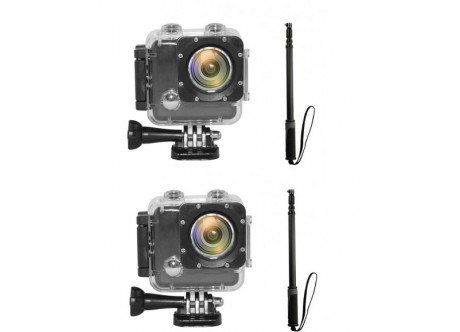 2 x Action Cam Pro II HD - Snowboarder's Pair Deal